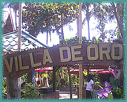 villa de oro entrance